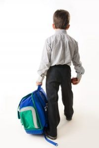 a heavy backpack will cause a child to drag it, making posture worse