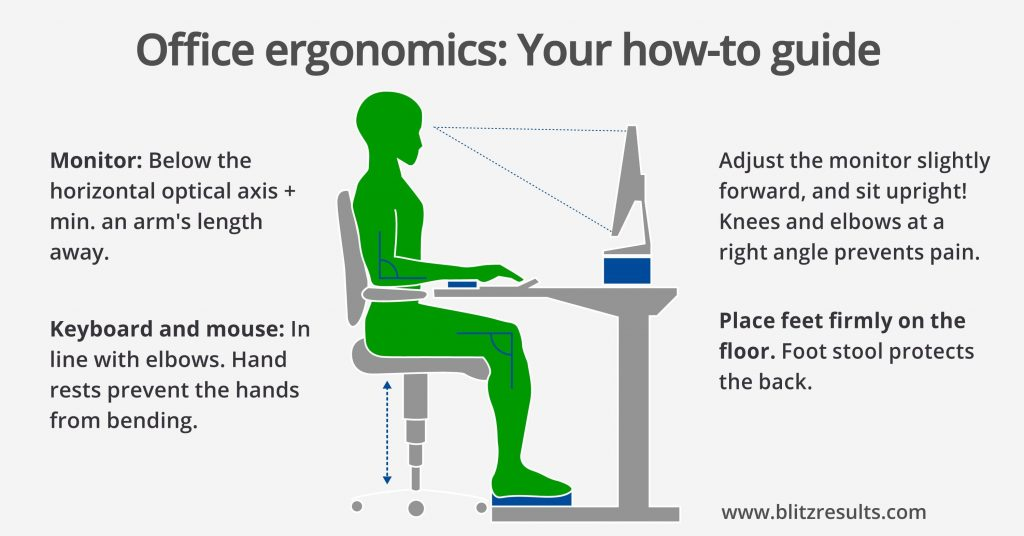 Good ergonomics can prevent spinal issues